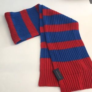 TOMMY HILFIGER Blue/Red Knit Scarf